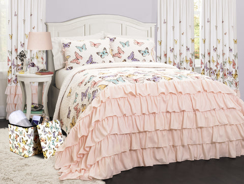 Flutter Butterfly Quilt 3 Piece Set Full/Queen