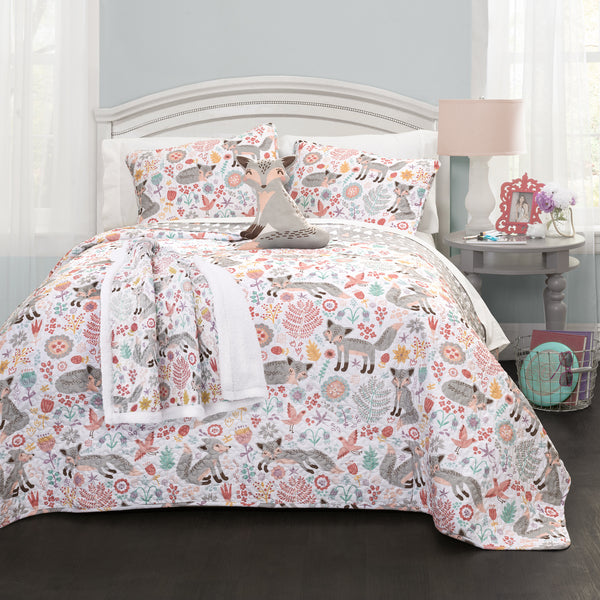 Pixie Fox Quilt 3 Piece Set