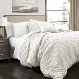 Bedding Bundle: Teardrop Leaf Quilt Set + Ravello Pintuck Comforter Set