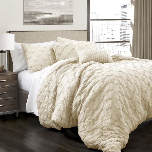 Bedding Decor: Ravello Pintuck 5 Piece Comforter Set
