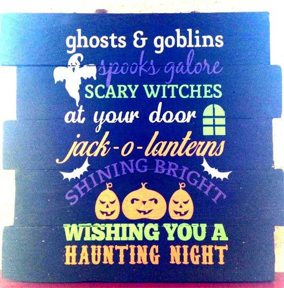 ghosts & goblins spooks galore scary witches at your door