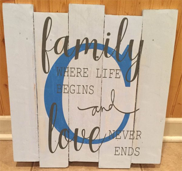 Family Where Life Begins, with Monogram