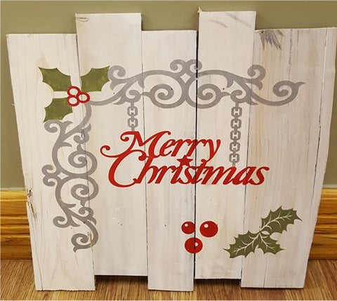 Merry Christmas with scroll work