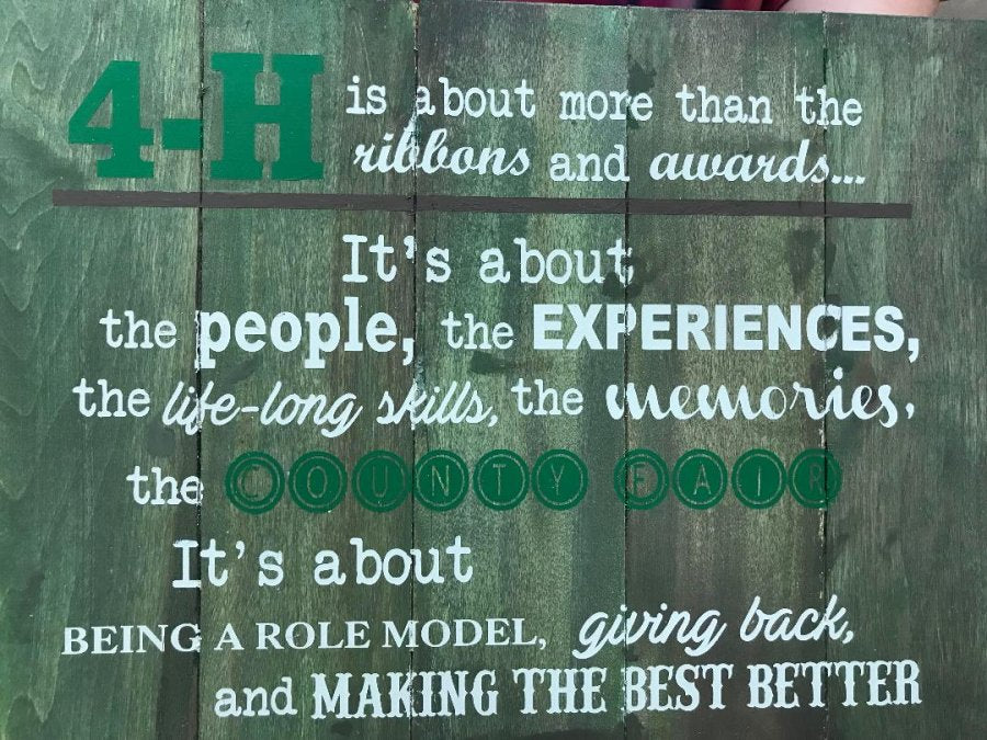 4-H  is about  more than the ribbons and awards