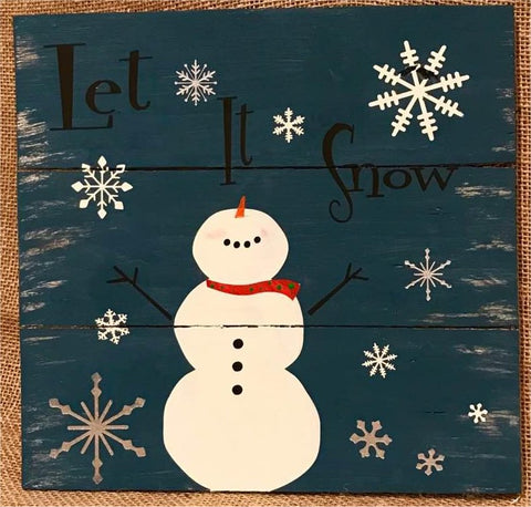 Let it Snow ( with snowman )