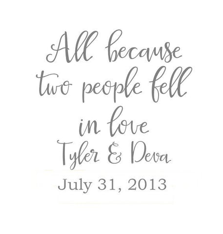 All because two people fell in love ( Personalized )