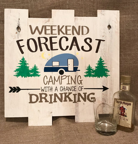 Weekend forcast, Camping with a chance of drinking