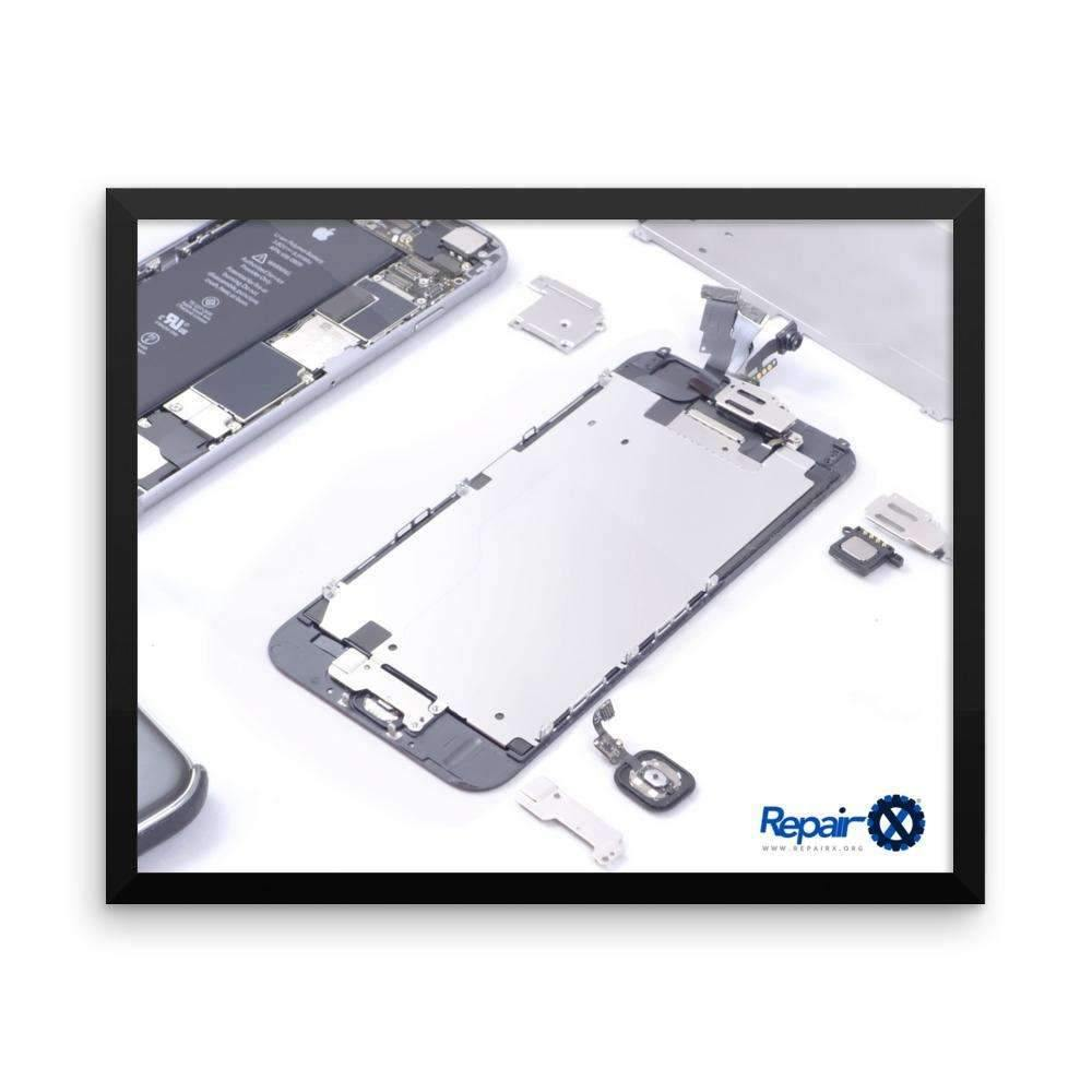 Repair X,Framed Poster: Disassembled iPhone 6,
