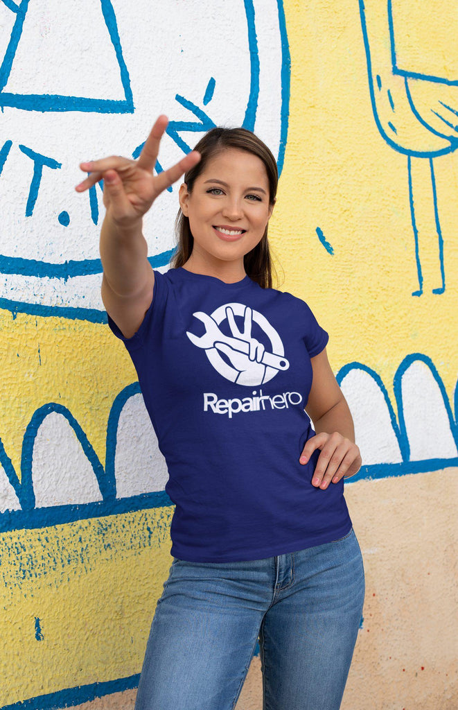 "Repair X,""Repair Hero"" Ladies' short sleeve t-shirt,"