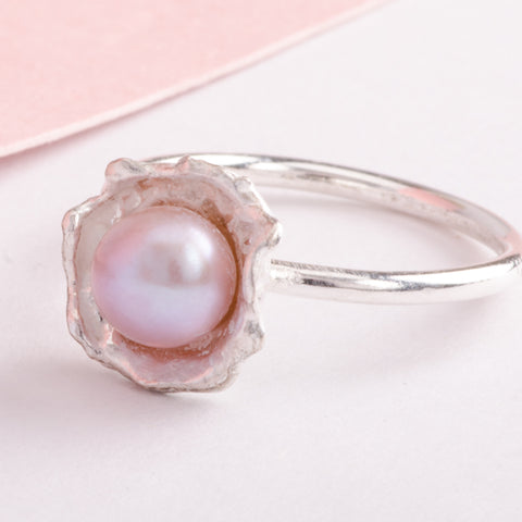 Oyster Pearl Silver Rings