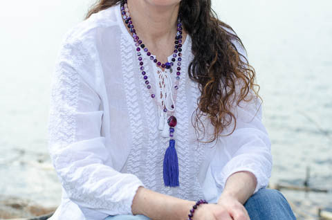 Mala Necklace Amethyst Crystal