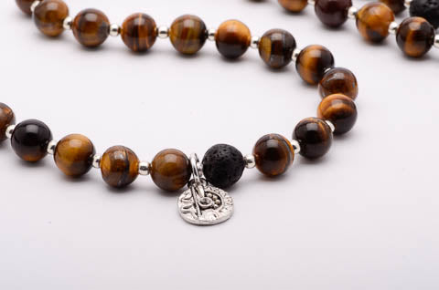 Tigers Eye Mala Necklace