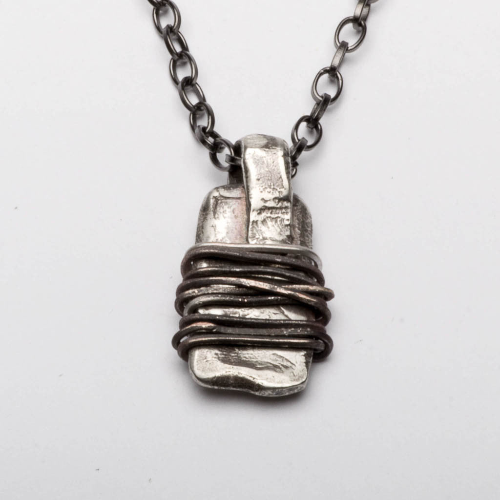 Amulet Warding Off Sterling Silver Pendant Necklace Front