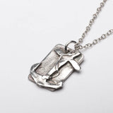 Anchor Faith Love Hope Sterling Silver Pendant Necklace Front