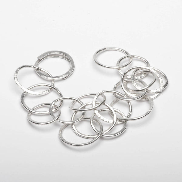 Bracelet Infinity Circles Sterling Silver Handmade Front