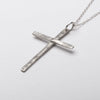 Christian Cross Slim Pendant Necklace Sterling Silver Right