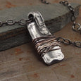 Amulet Warding Off Sterling Silver Pendant Necklace Handmade