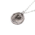 Heart Charms Silver Pendant Necklace Right