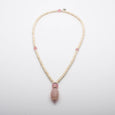 Mala Beads Necklace Pink Agate White Howlite Gemstones Inspirational Jewelry Pure Love