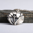 Wildflowers Pendant Necklace Sterling Silver Handmade Women Jewelry
