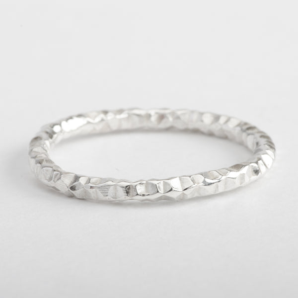 Silver Ring Spiral Twist Stackable