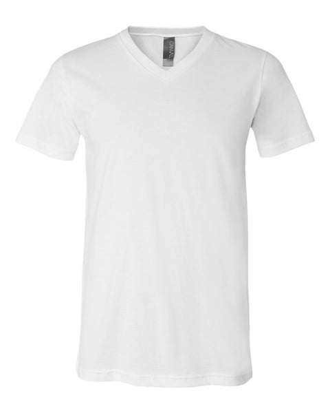 Canvas V-Neck Short Sleeve Tee