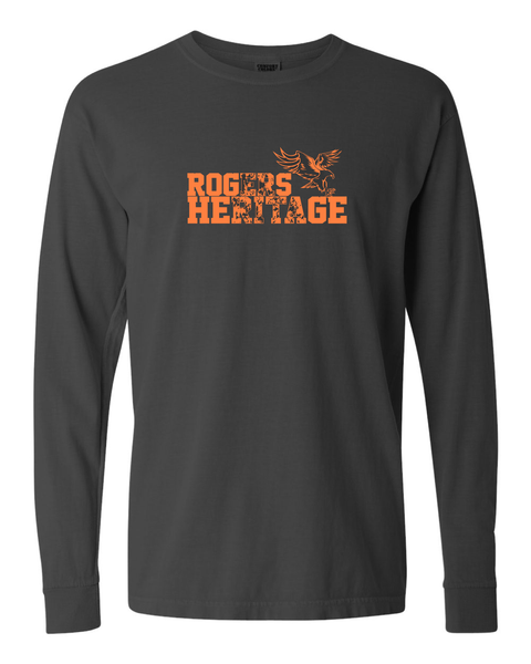 ROGERS HERITAGE Comfort Colors LONG Sleeve Pepper Grey Tee