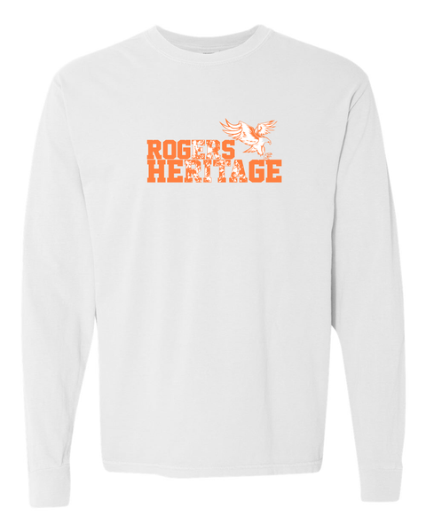 ROGERS HERITAGE Comfort Colors LONG Sleeve White Tee