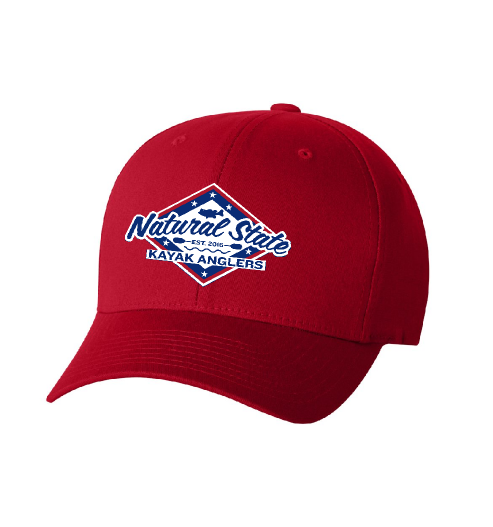 FLEX-FIT RED FITTED HAT