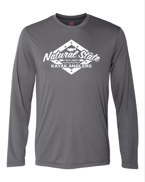 NSKA_GRAPHITE _Hanes - Cool Dri Long Sleeve Performance T-Shirt