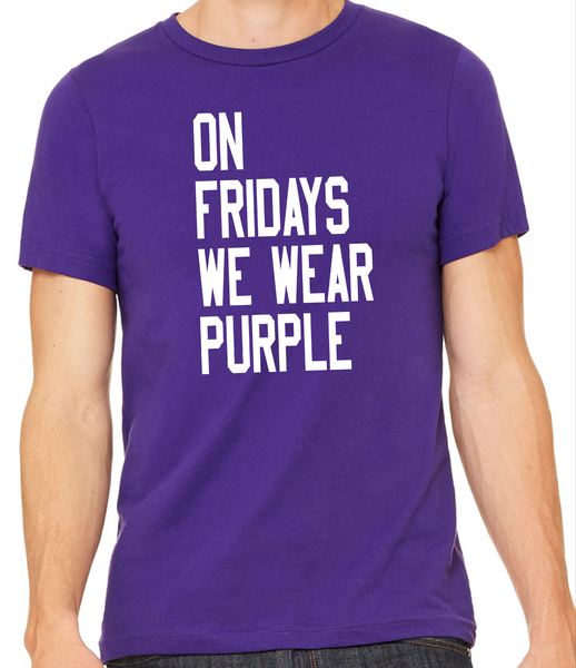 FHS - On Fridays We Wear Purple with white imprint