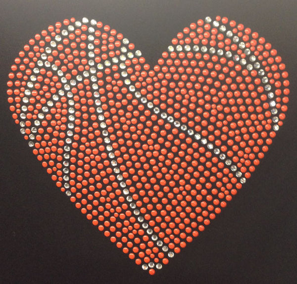 Basketball Heart On Black