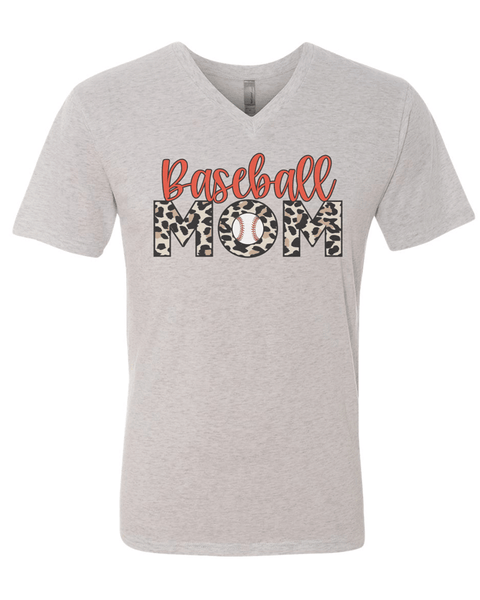 Baseball Mom with leopard