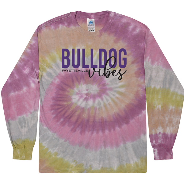 Bulldog Vibes!  Long Sleeve Tie Dye