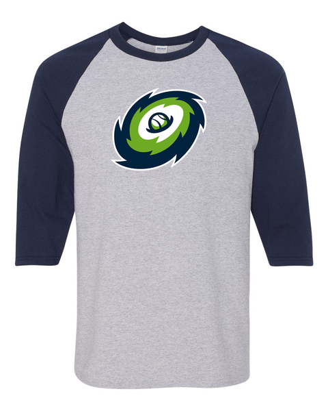 Hurricanes Heavy Cotton™ Raglan Three-Quarter Sleeve T-Shirt