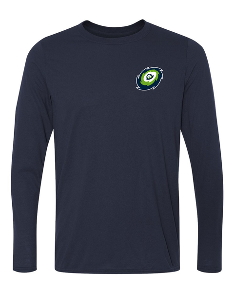 Hurricanes - Navy - Performance Long Sleeve Crew Neck tee