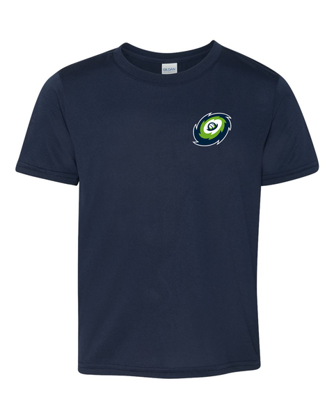 Hurricanes - Navy - Performance Short Sleeve Crew Neck tee
