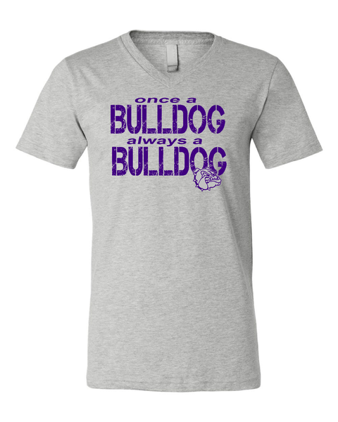 Once a Bulldog always a Bulldog! V-Neck Soft Blended tee