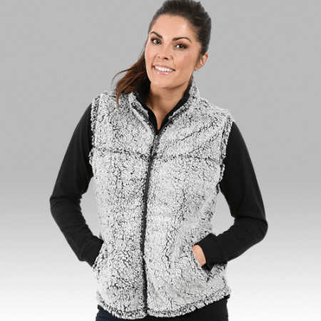 Smoky Grey Sherpa Vest