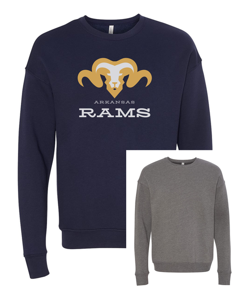 Bella Canvas Sweatshirt_Rams Mascot on front