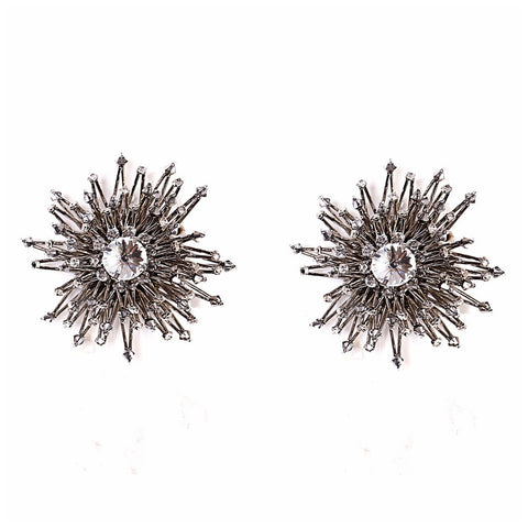 Supernova Rhodium Earrings