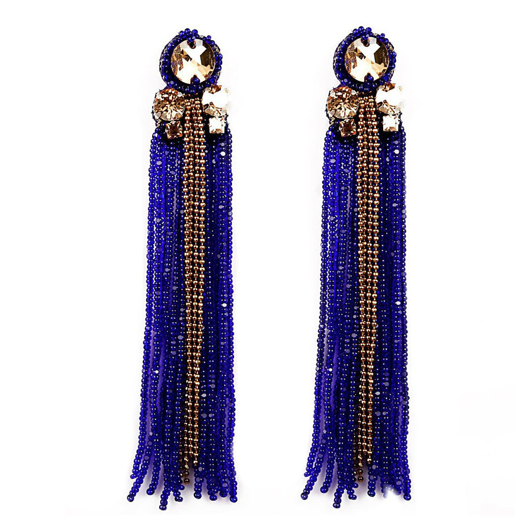 Sheen Tasseled Earrings
