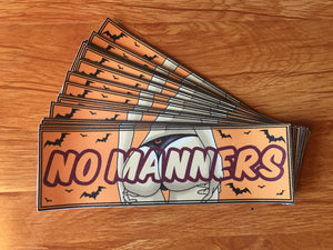 No Manners Slappy Sticker