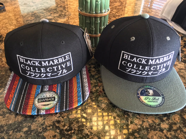Black Marble Collective Snapback Hats (NEW COLORS)