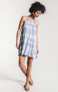 The Tie Dye Dress - Parisian Blue