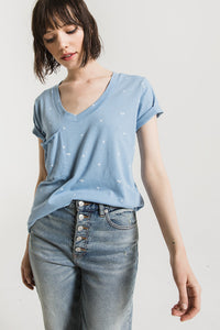 The Mini Palm Pocket Tee - Allure Blue