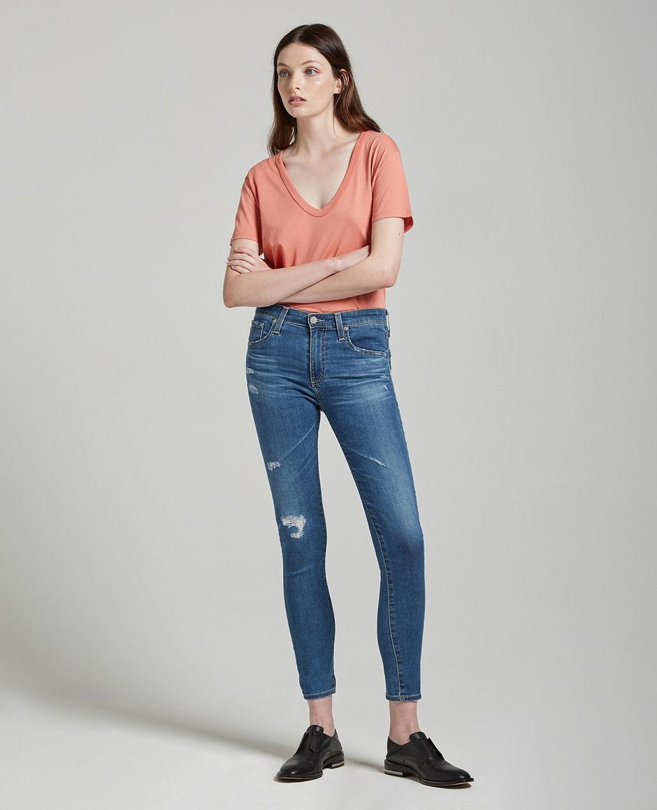 AG Farrah Skinny Ankle Jean, Bottoms - shoplagreen.com