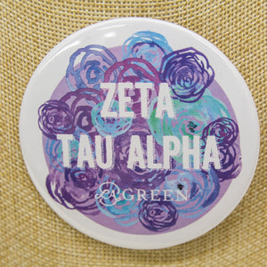 Zeta Tau Alpha Button, Sorority - Zeta Tau Alpha - shoplagreen.com