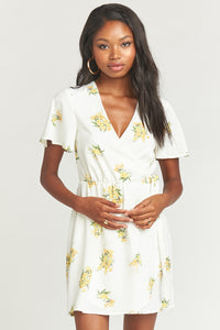 Andrea Wrap Dress - Sunny Side Floral