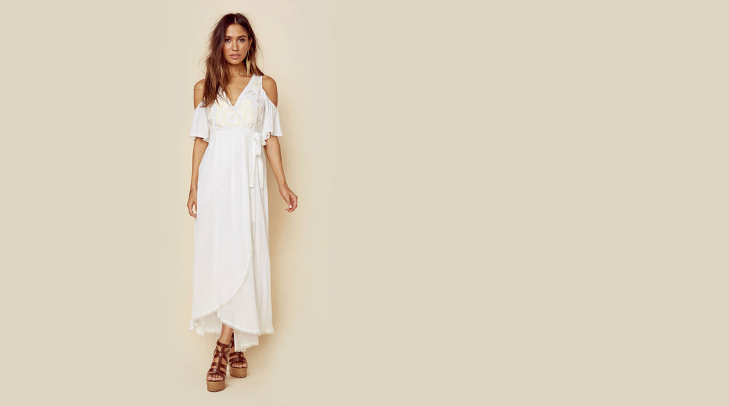 Rahi Cali White Wrap Dress